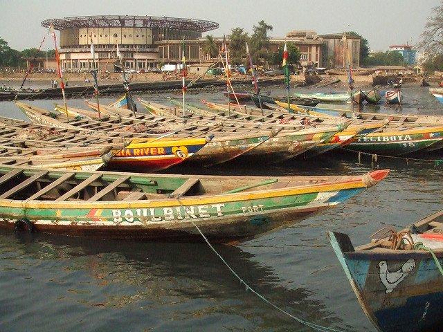 Boats in Conakry, Guinea